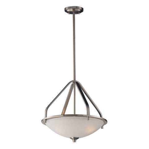 "Transit 17""w Brushed Nickel Pendant"