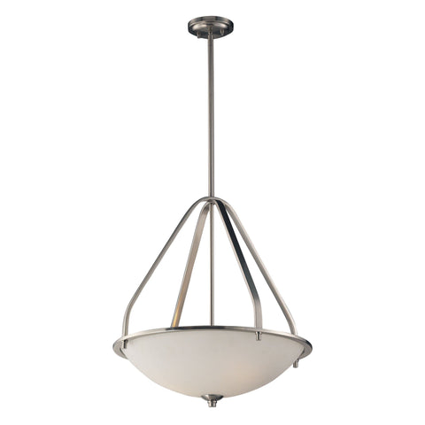 "Transit 21""w Brushed Nickel Pendant"