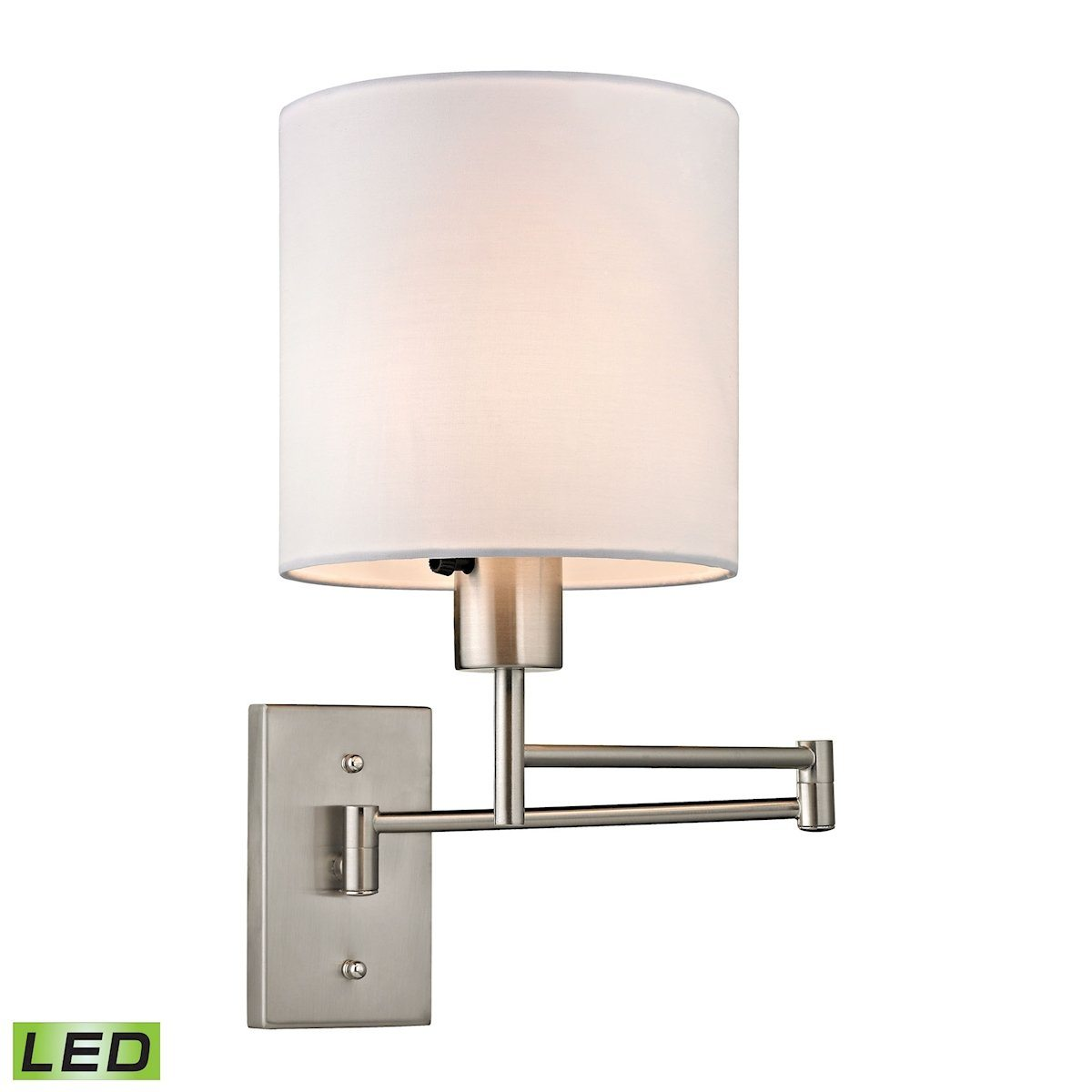 Carson 1 Light LED Swingarm Wall Sconce In Brushed Nickel Wall Sconce Elk Lighting