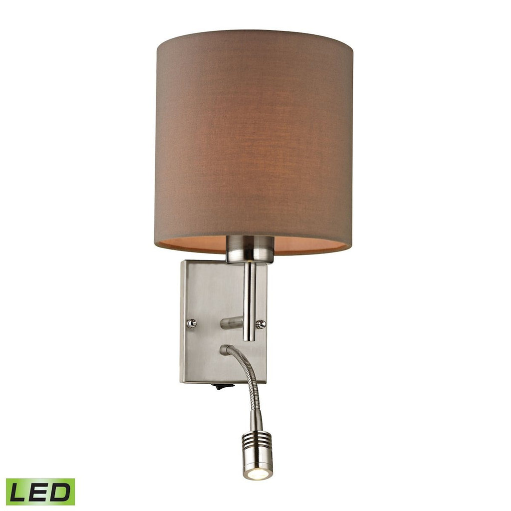 Regina 2 Light LED Wall Sconce In Brushed Nickel Wall Sconce Elk Lighting