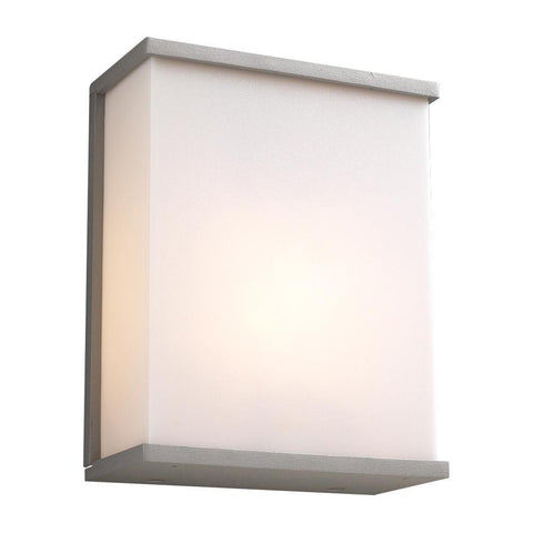 "Pinero 10""h Outdoor Wall Light - Silver Outdoor PLC Lighting"