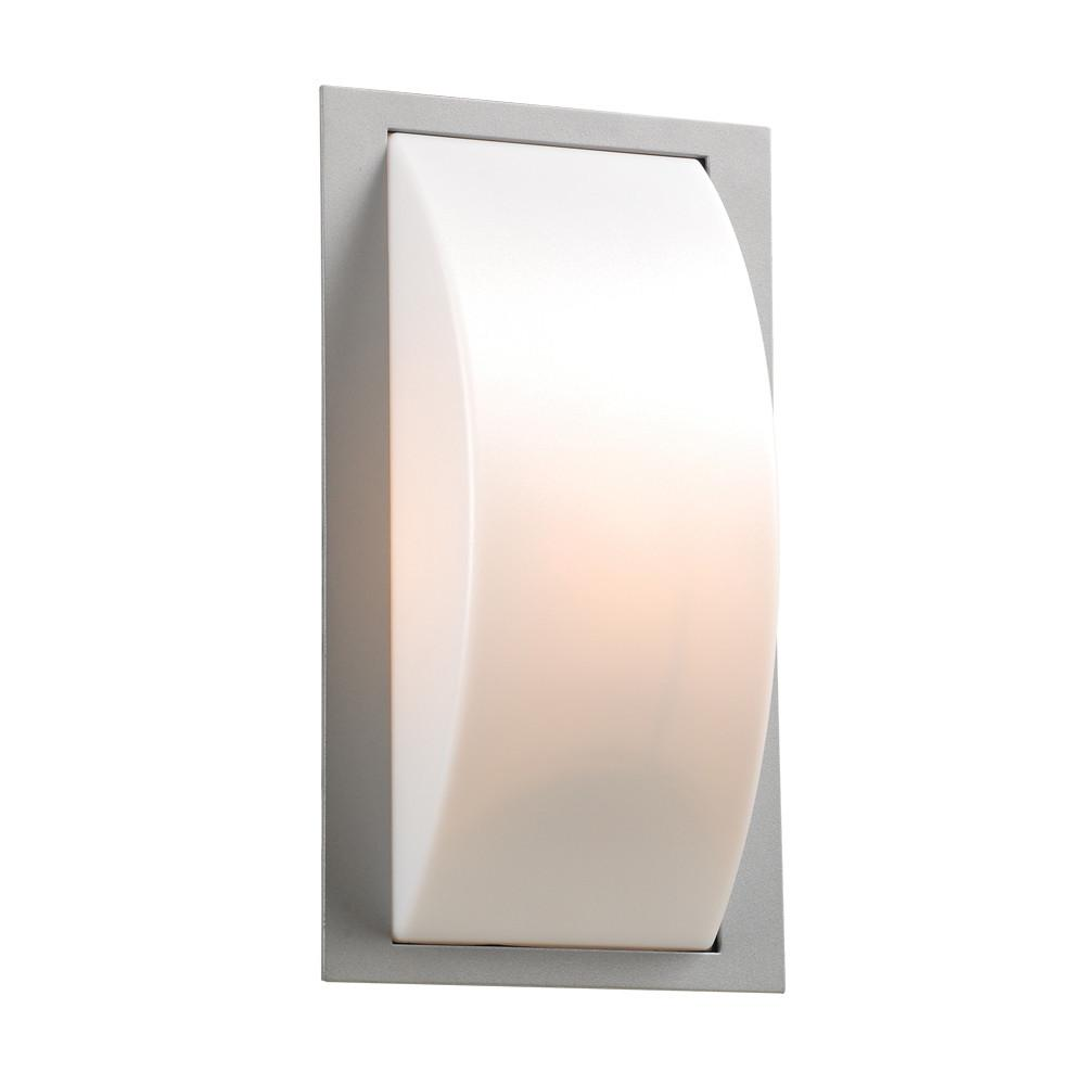 "Breda 14""h Outdoor Wall Light - Silver Outdoor PLC Lighting"