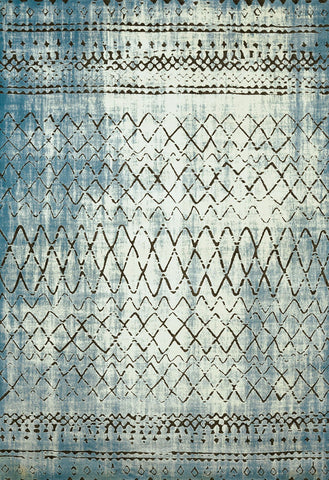Weathered Treasures Lucid Aqua Rug - 4 Size Options