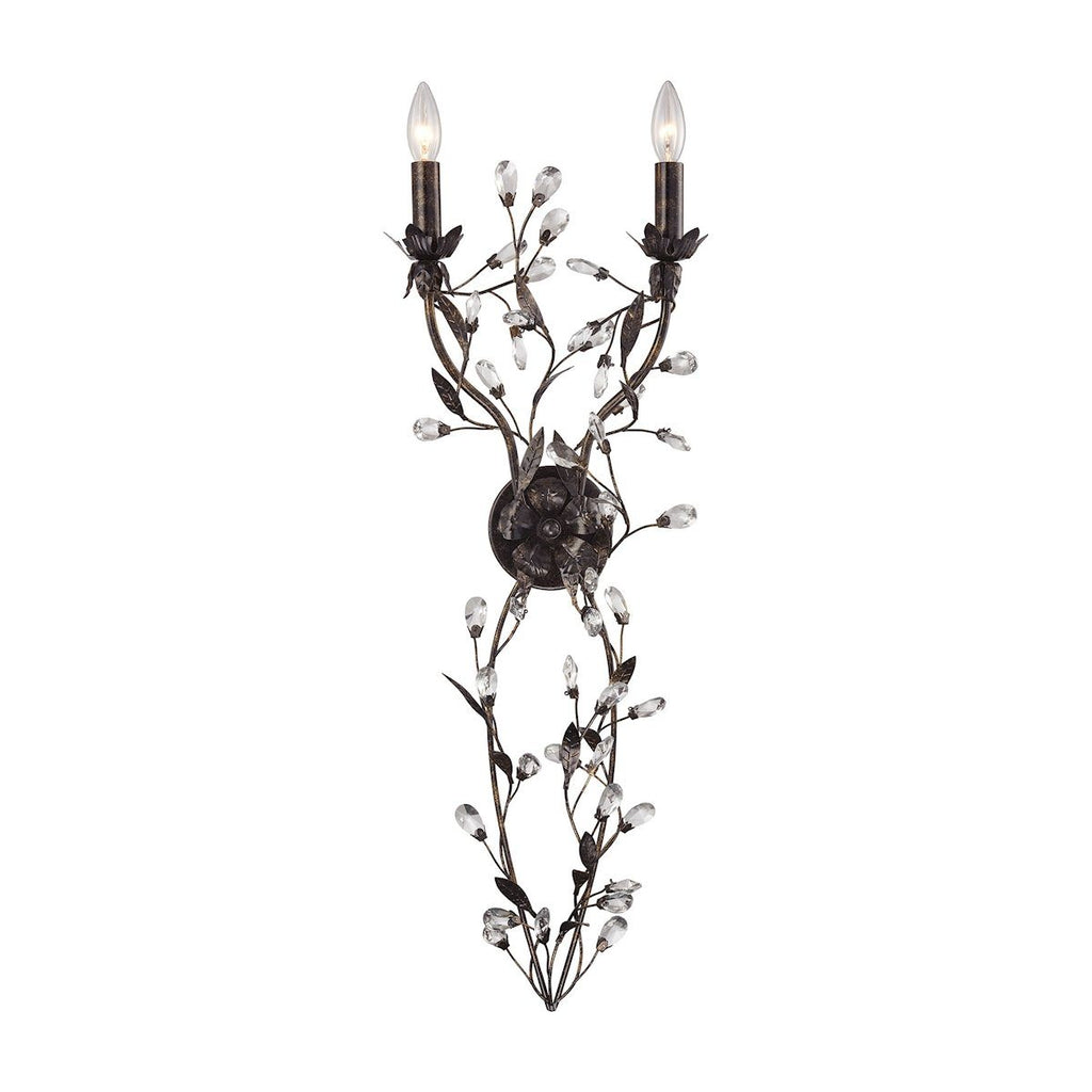 Circeo 2 Light Wall Sconce In Deep Rust Wall Sconce Elk Lighting