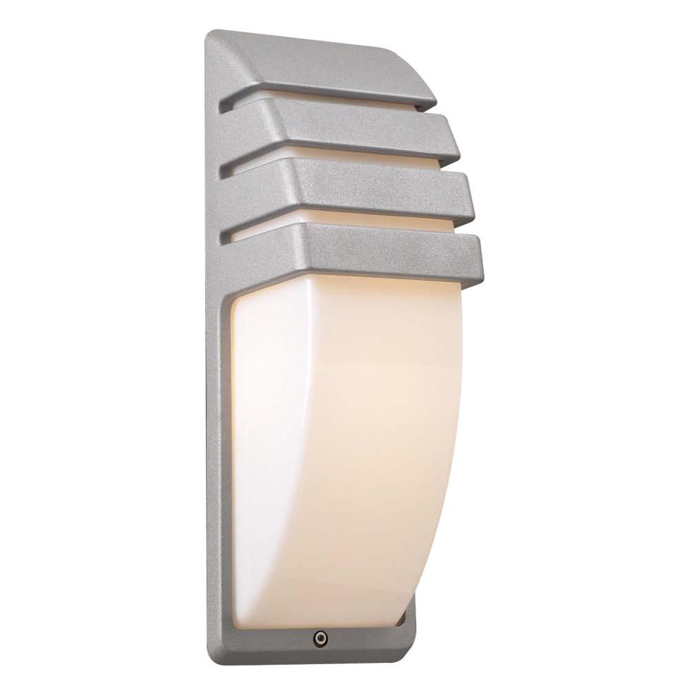 "Synchro 14""h Outdoor Wall Light - Silver Outdoor PLC Lighting"