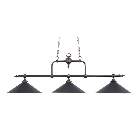 Designer Classics 3 Light Billiard In Tiffany Bronze Ceiling Elk Lighting