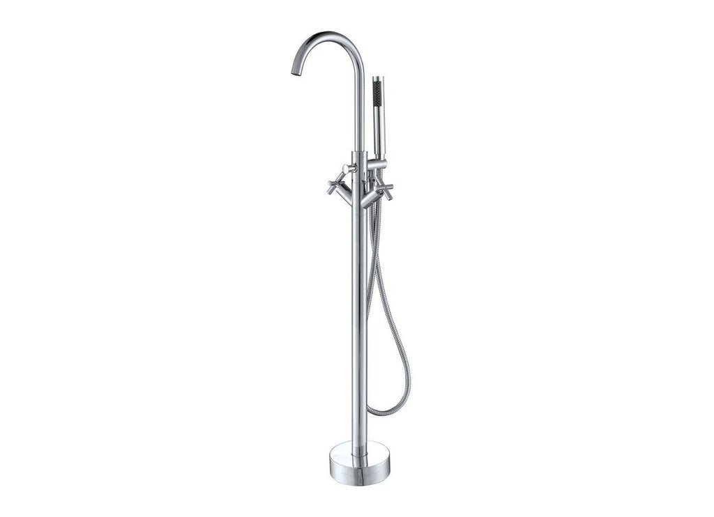 Eilat 2009 Floor Mount Tub Filler with Hand Shower Chrome