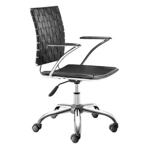 Criss Cross Office Chair Black Furniture Zuo