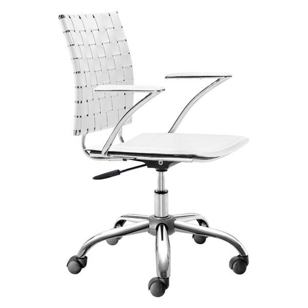 Criss Cross Office Chair White Furniture Zuo