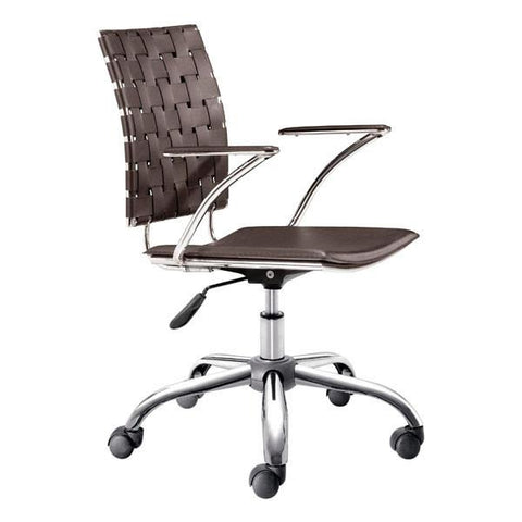 Criss Cross Office Chair Espresso Furniture Zuo