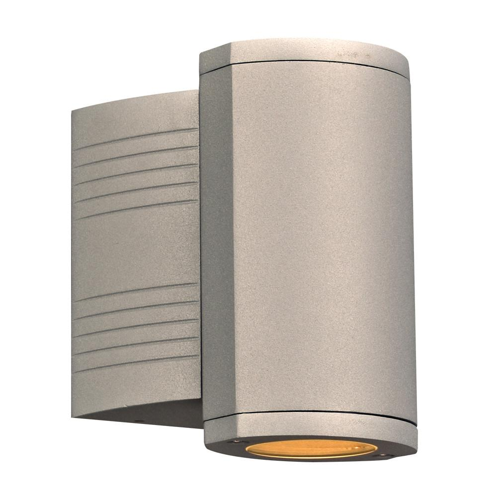 "Lenox I 7""h Outdoor Downlight LED Wall Fixture - Silver Outdoor PLC Lighting"
