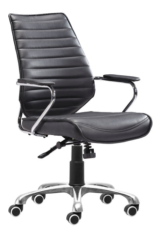 Enterprise Low Back Office Chair Black Furniture Zuo