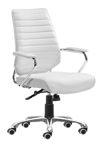 Enterprise Low Back Office Chair White Furniture Zuo