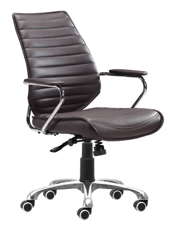 Enterprise Low Back Office Chair Espresso Furniture Zuo