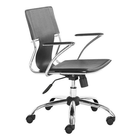 Trafico Office Chair Black Furniture Zuo Black