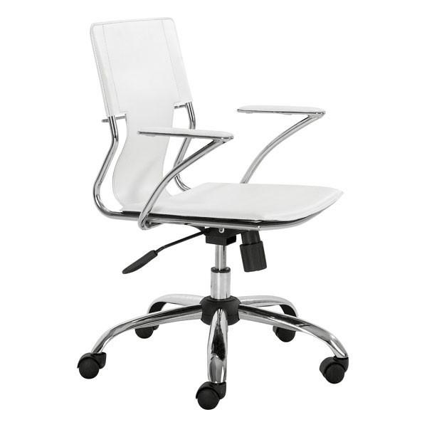 Trafico Office Chair White Furniture Zuo
