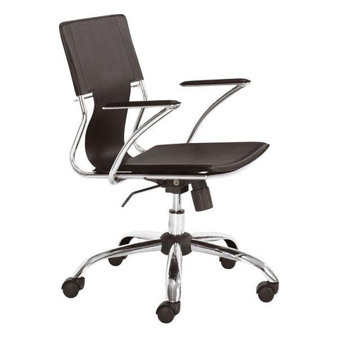 Trafico Office Chair Espresso Furniture Zuo