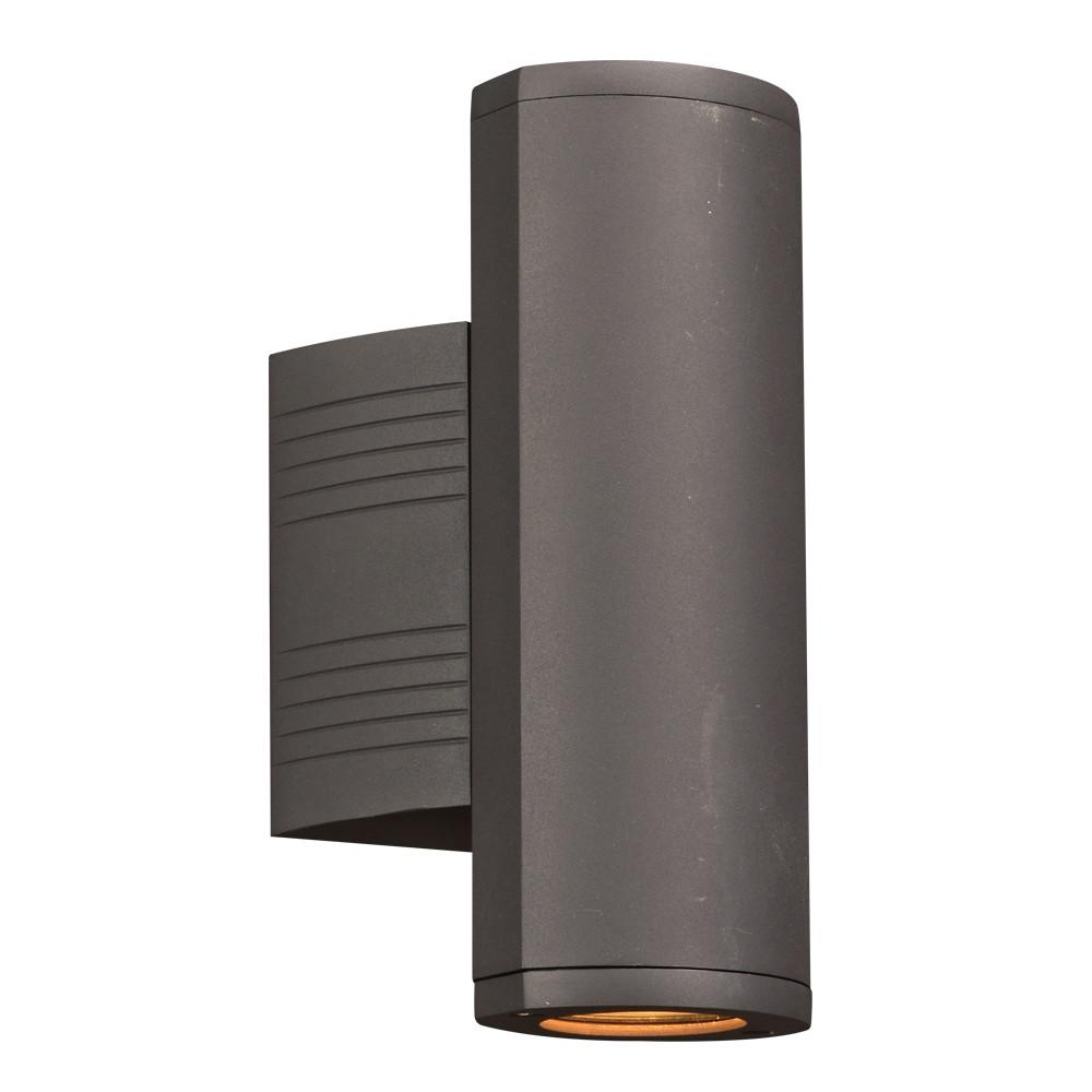 "Lenox I 10.5""h Outdoor Up and Downlight LED Wall Fixture - Bronze Outdoor PLC Lighting"