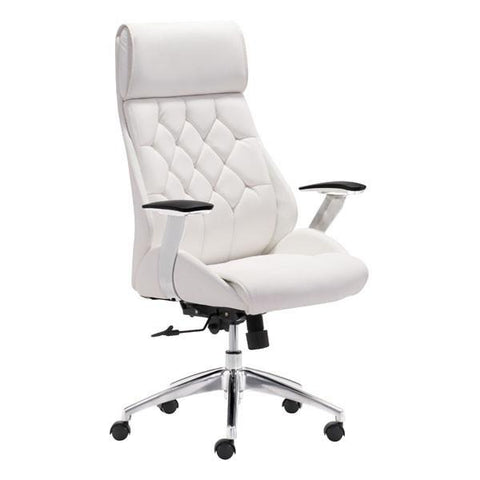 Boutique Office Chair White Furniture Zuo