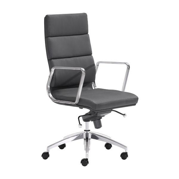 Engineer High Back Office Chair Black Furniture Zuo