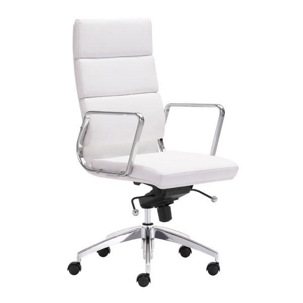 Zuo Engineer High Back Office Chair White