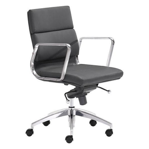 Engineer Low Back Office Chair Black Furniture Zuo