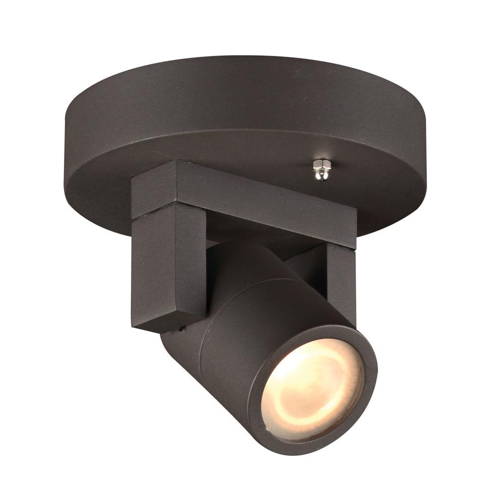 "Lyndon 5.5"" LED Wall Light or Ceiling Fixture - Bronze Outdoor PLC Lighting"