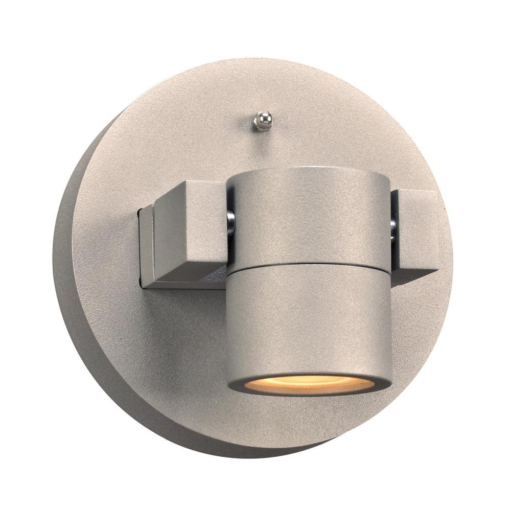 "Lyndon 5.5"" LED Wall Light or Ceiling Fixture - Silver Outdoor PLC Lighting"