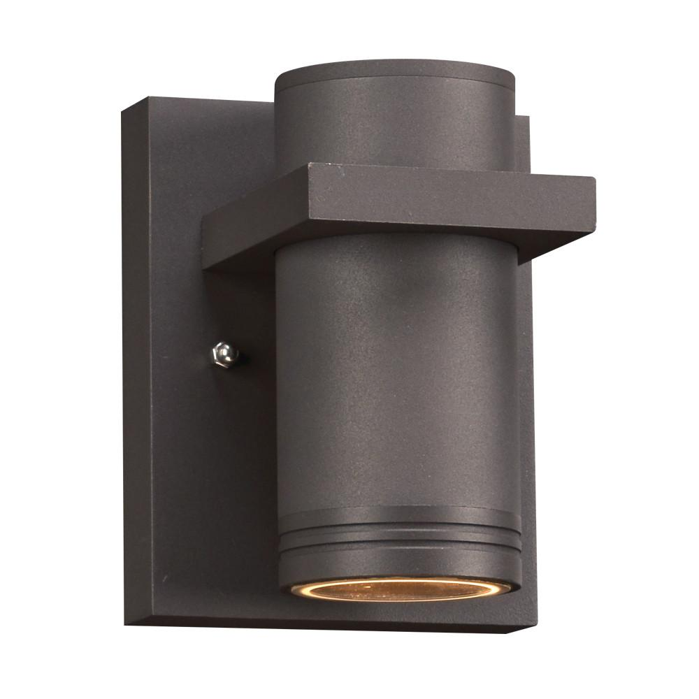 "Boardwalk I 5.5""h Outdoor Downlight LED Wall Fixture - Bronze Outdoor PLC Lighting"