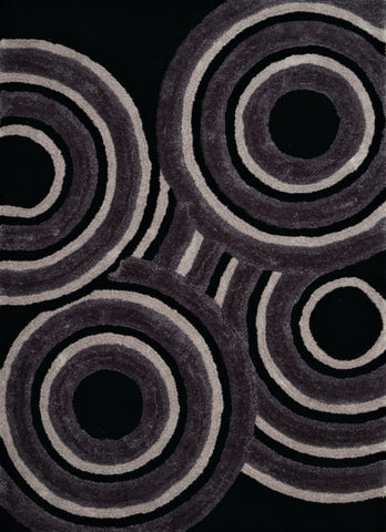 "United Weavers Finesse Records Black Oversize Rug  7'10"" X 10'6"""