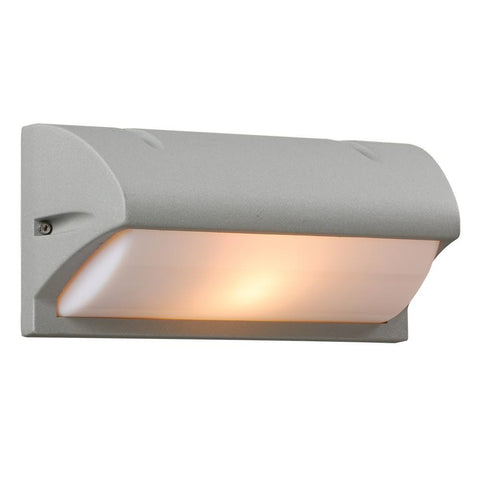 "Amberes 10""w Outdoor Wall Fixture - Silver Outdoor PLC Lighting Silver"
