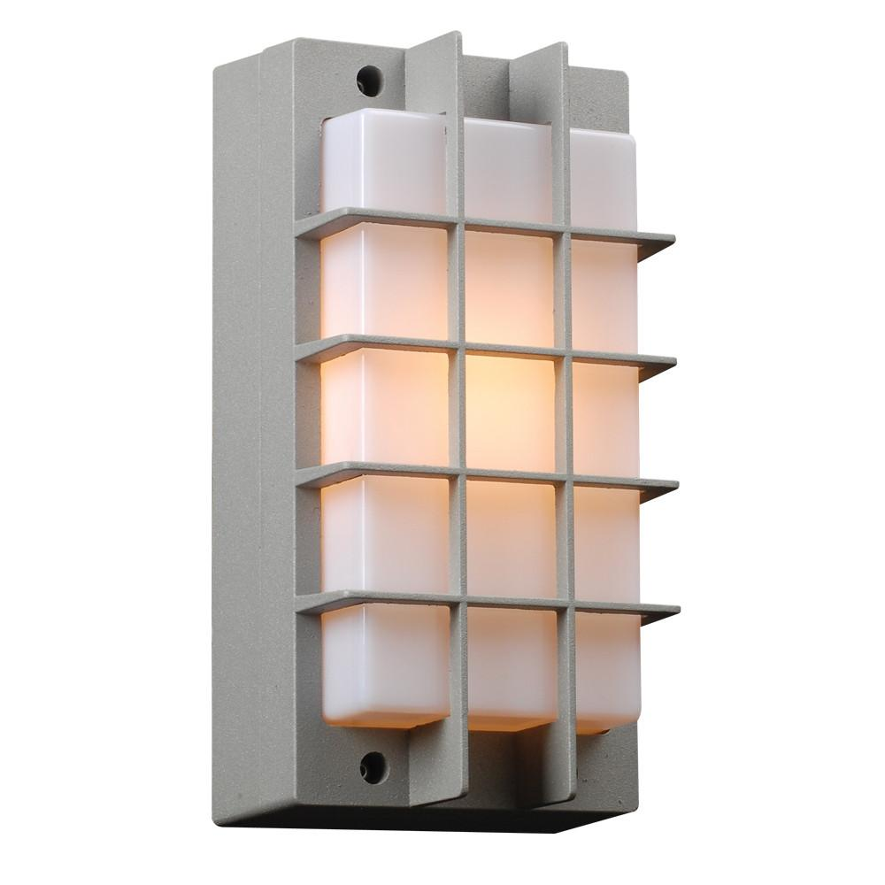 "Lorca 11""h Outdoor Wall Light - Silver Outdoor PLC Lighting"