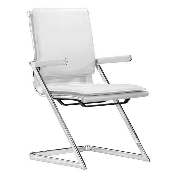 Lider Plus Conference Chair White (Set of 2) Furniture Zuo