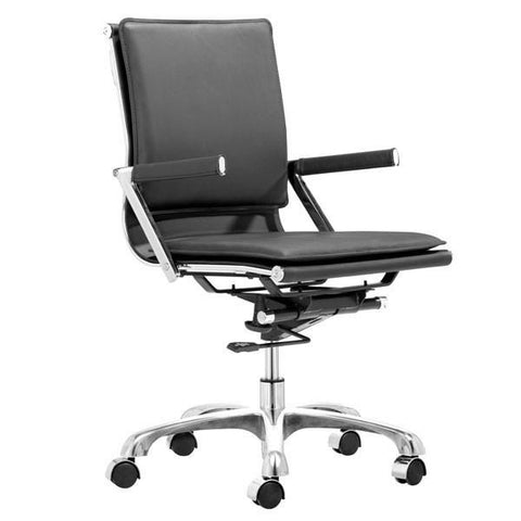 Lider Plus Office Chair Black Furniture Zuo