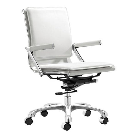 Lider Plus Office Chair White Furniture Zuo