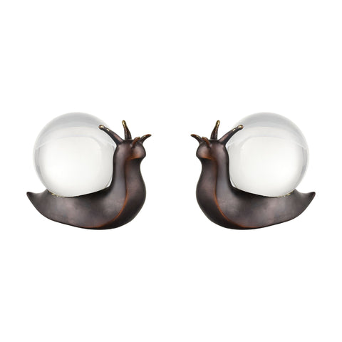 Slug it Out Objects in Oil Rubbed Bronze and Clear (Set of 2)