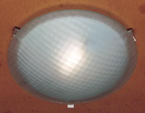 "Contempo 20""w Grid-Glass Ceiling Light - Rust"