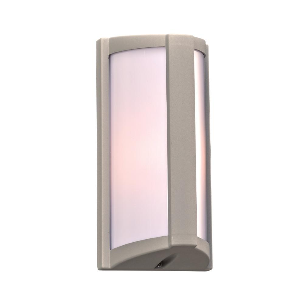 "Lukas 10""h Outdoor Wall Light - Silver Outdoor PLC Lighting"