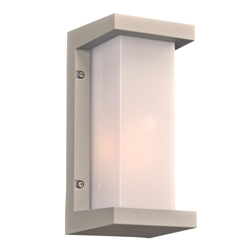 "Boston Collection 12""h Outdoor Wall Light - Silver Outdoor PLC Lighting"