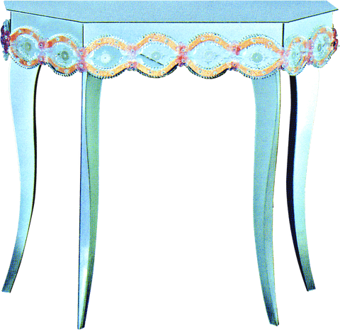 Arte di Murano Mirrored Console Table  82x35x88 CM