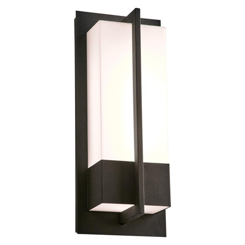 "Brecon LED 16""h Black Outdoor Wall Light"