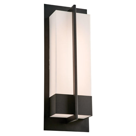 "Brecon 20""h LED Black Outdoor Wall Light"