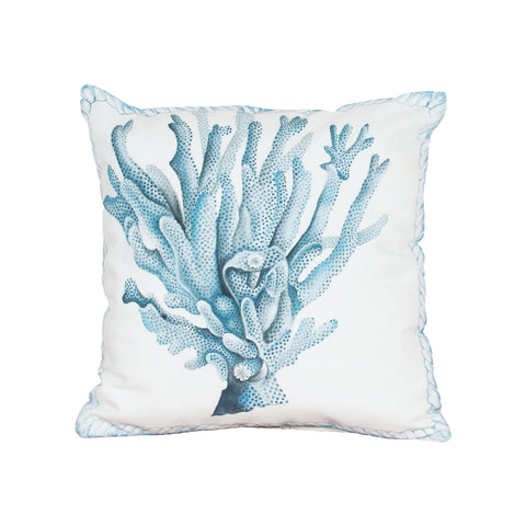 Coral Hand-painted 20x20 Outdoor Pillow