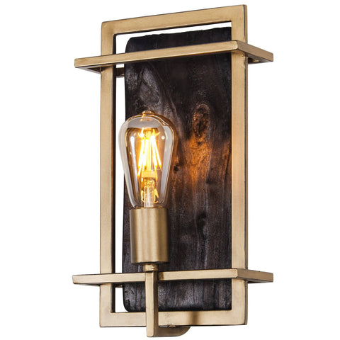 Madeira 1-Lt Sconce - Rustic Gold Wall Varaluz
