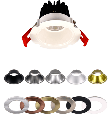 "2"" LED SnapTrim Recessed Canless Downlight - 5CCT Adjustable Color Temp - Choose Finish"