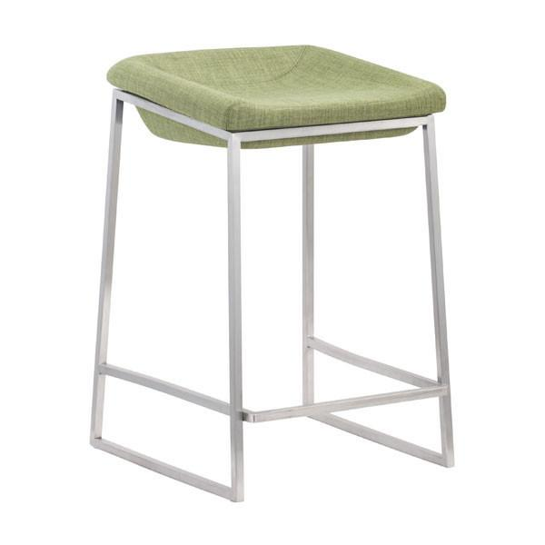 Lids Counter Stool Green (Set of 2) Furniture Zuo