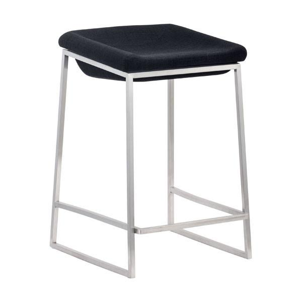 Lids Counter Stool Dark Gray (Set of 2) Furniture Zuo
