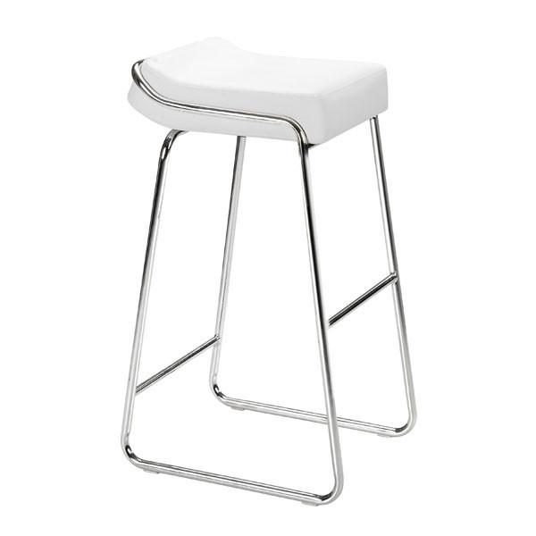 Wedge Barstool White (Set of 2) Furniture Zuo