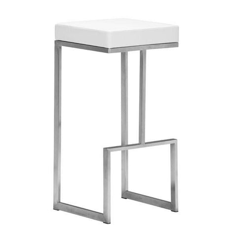 Darwen Barstool White (Set of 2) Furniture Zuo