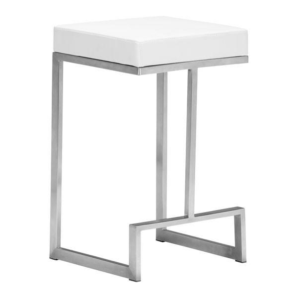 Darwen Counter Stool White (Set of 2) Furniture Zuo